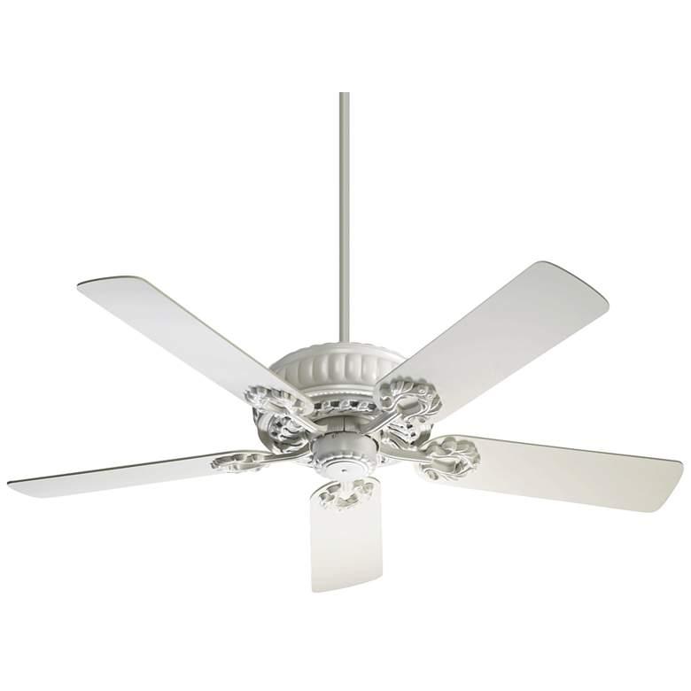 """52"""" Quorum Empress Studio White Ceiling Fan"""