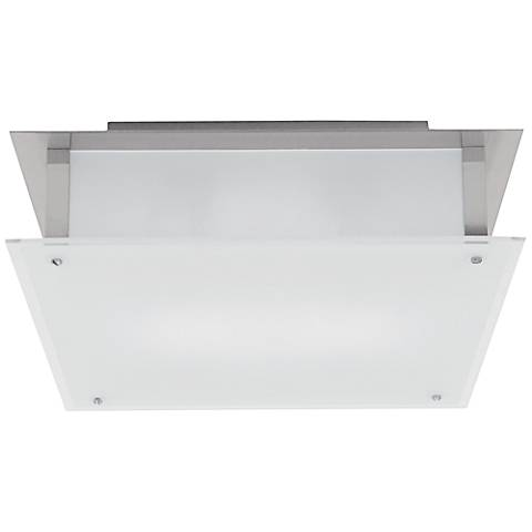 "Vision 9 1/2"" Wide Brushed Steel Ceiling Light"
