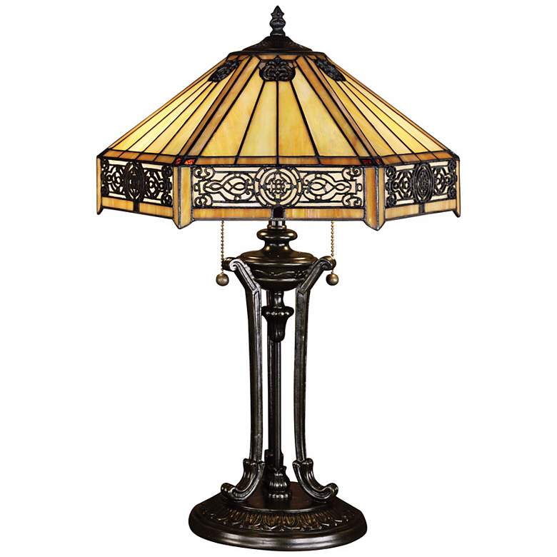 Quoizel Indus Tiffany Table Lamp