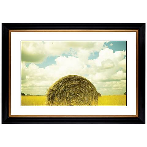 "Hay Bale Giclee 41 3/8"" Wide Wall Art"