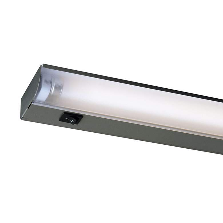 "Fluorescent 22"" Wide Silver Under Cabinet Light by Juno"