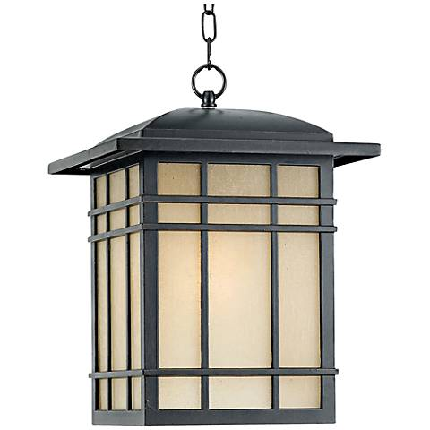 "Quoizel Hillcrest 18"" High Bronze Outdoor Hanging Light"