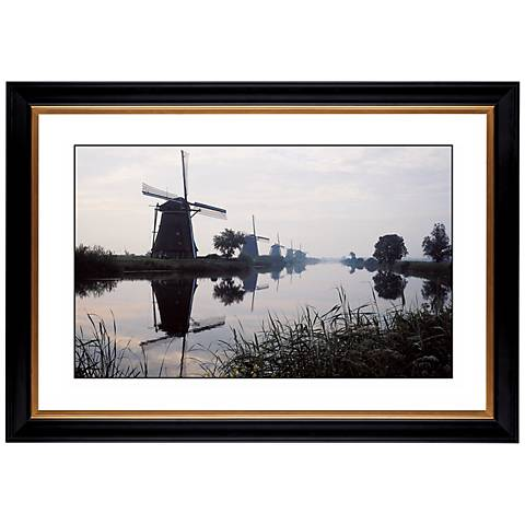 "Reflection Windmill Giclee 41 3/8"" Wide Wall Art"