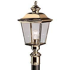 Kichler outdoor lighting decorative outdoor lights by kichler kichler solid brass 22 high outdoor post light mozeypictures Images