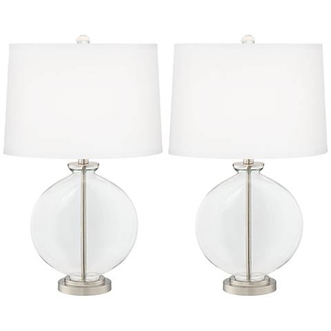 Clear Glass Carrie Table Lamp Set of 2