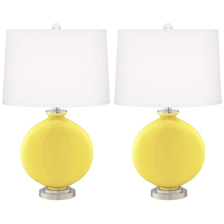 Lemon Twist Carrie Table Lamp Set of 2