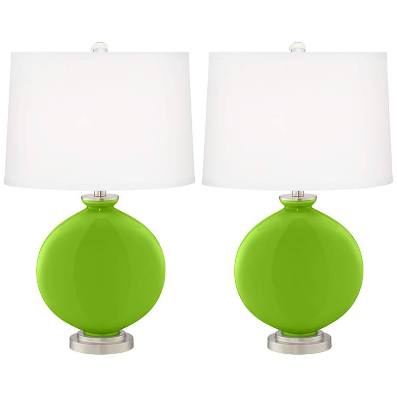 Neon Green Carrie Table Lamp Set of 2