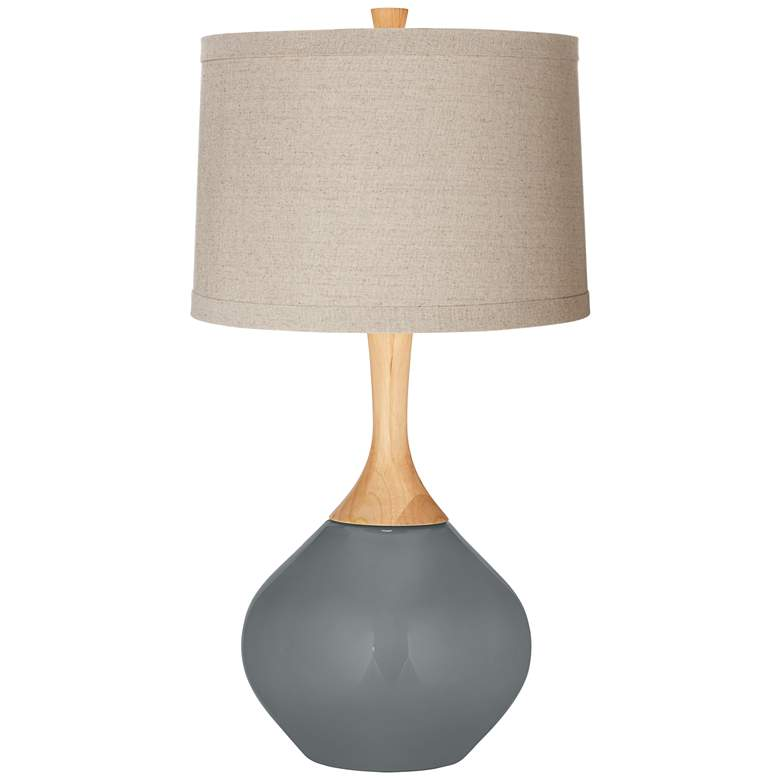 Software Natural Linen Drum Shade Wexler Table Lamp