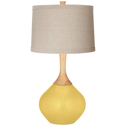 Daffodil Natural Linen Drum Shade Wexler Table Lamp