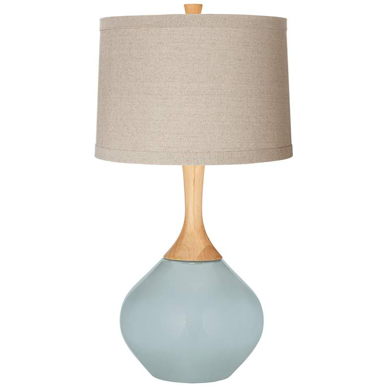 Rain Natural Linen Drum Shade Wexler Table Lamp