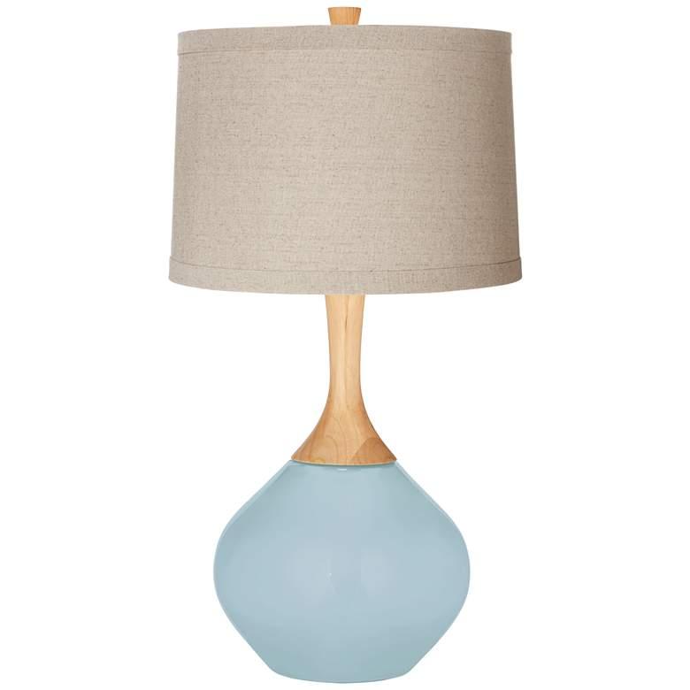Vast Sky Natural Linen Drum Shade Wexler Table Lamp