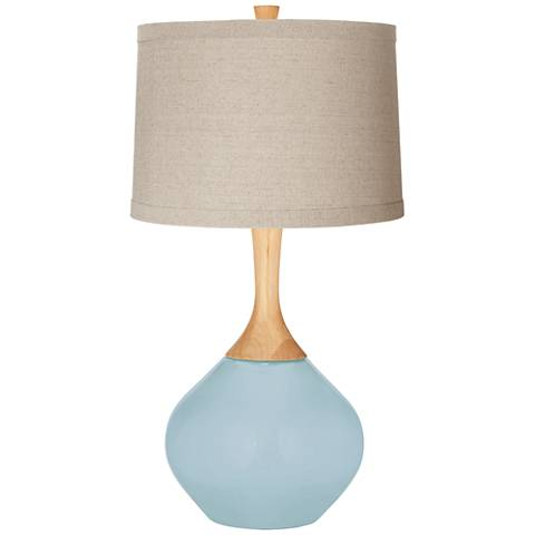Vast Sky Natural Linen Drum Shade Wexler Table Lamp