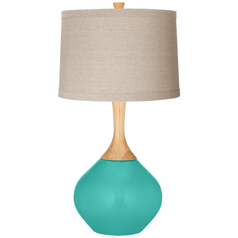 Synergy Natural Linen Drum Shade Wexler Table Lamp