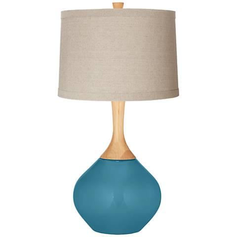 Great Falls Natural Linen Drum Shade Wexler Table Lamp