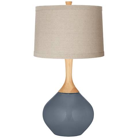 Granite Peak Natural Linen Drum Shade Wexler Table Lamp