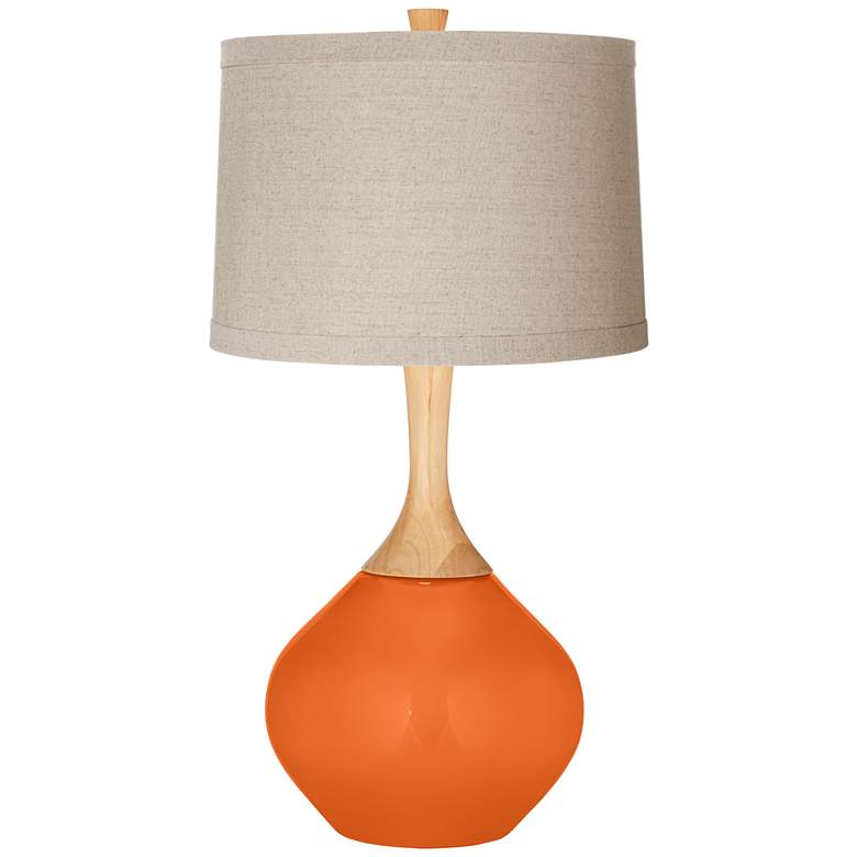 Invigorate Natural Linen Drum Shade Wexler Table Lamp