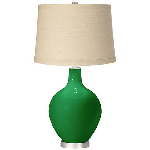 Envy Burlap Drum Shade Ovo Table Lamp