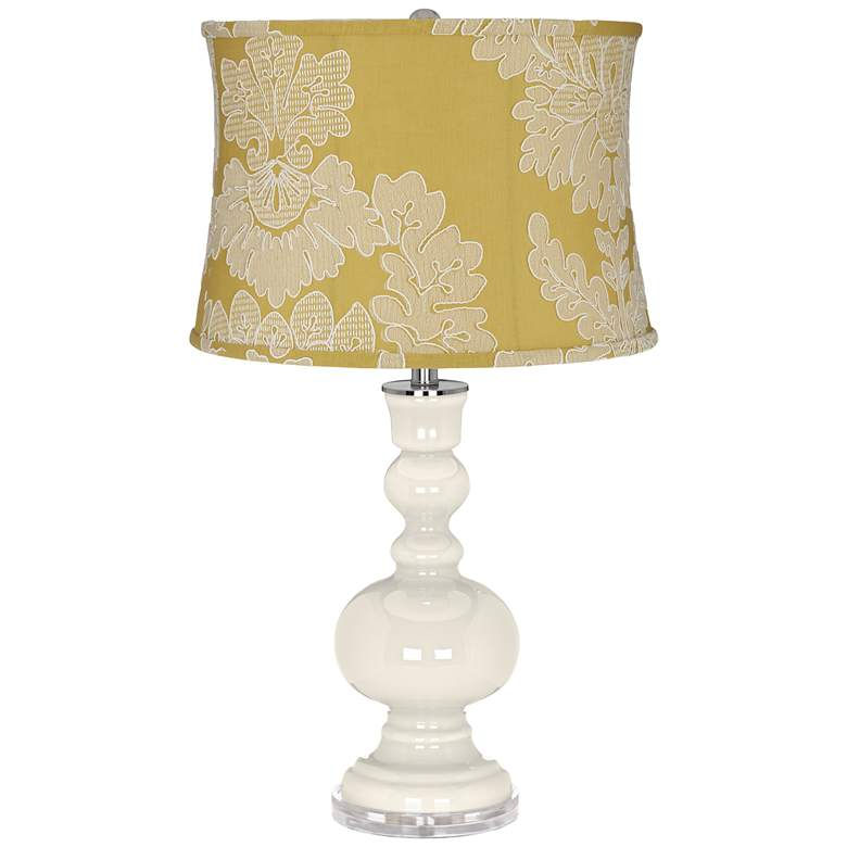 West Highland White Apothecary Table Lamp w/ Yellow Shade