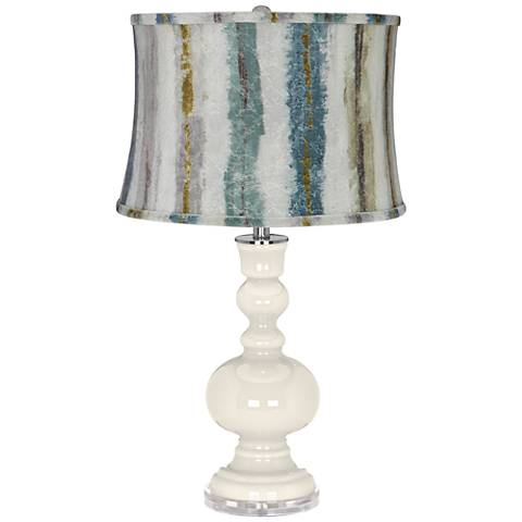 West Highland White Apothecary Table Lamp w/ Striped Shade