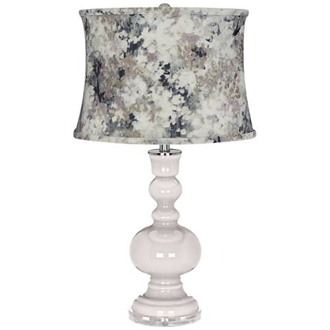 Smart White Apothecary Table Lamp w/ Gray Paint Shade