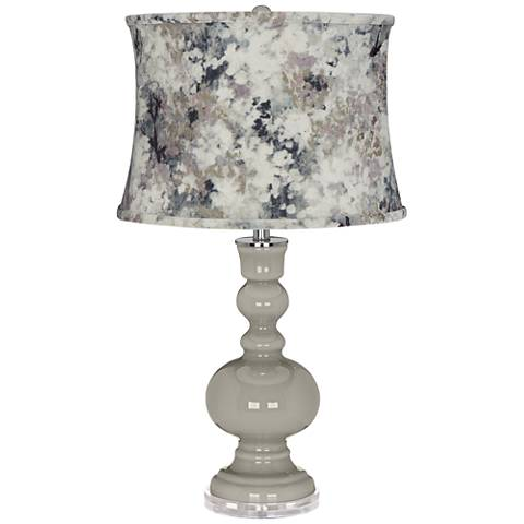 Requisite Gray Apothecary Table Lamp w/ Gray Paint Shade