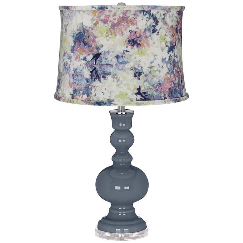 Granite Peak Apothecary Table Lamp w/ Multi-Color Paint Shade