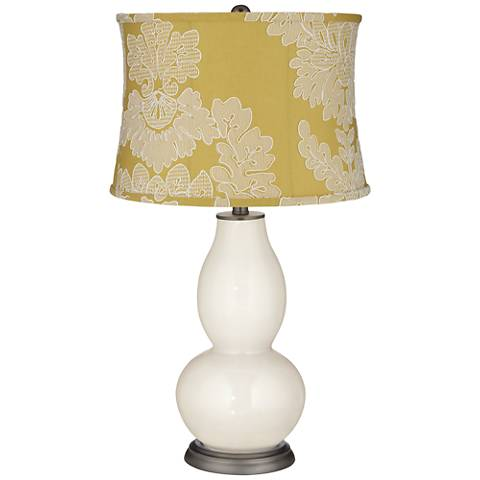West Highland Yellow Drum Shade Double Gourd Table Lamp