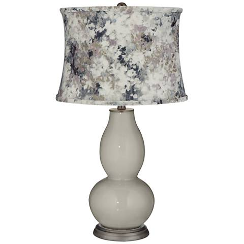 Requisite Gray Double Gourd Table Lamp w/ Gray Paint Shade
