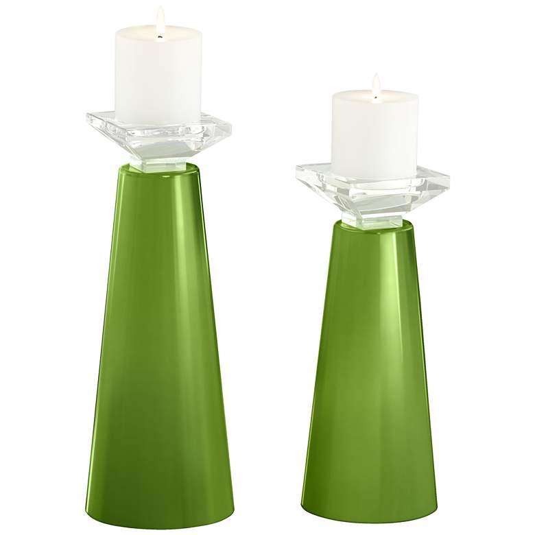 Meghan Gecko Glass Pillar Candle Holder Set of 2