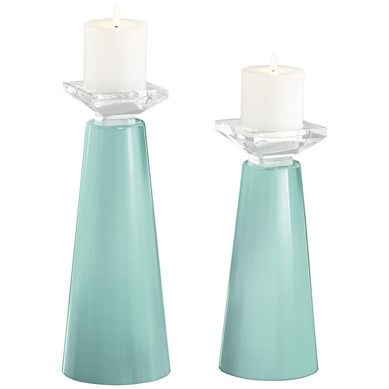 Meghan Cay Glass Pillar Candle Holder Set of 2