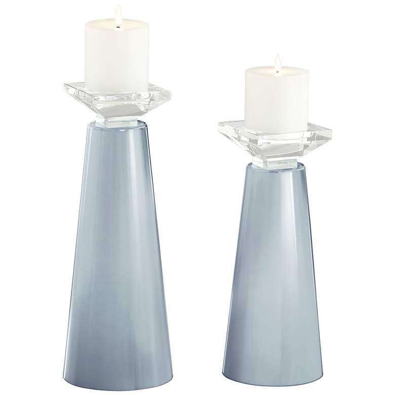 Meghan Take Five Glass Pillar Candle Holder Set of 2