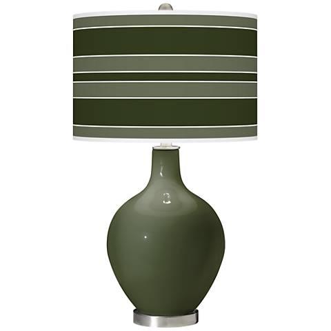 Secret Garden Bold Stripe Ovo Glass Table Lamp