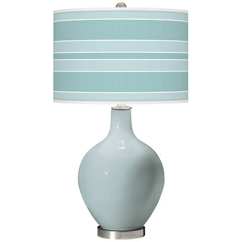 Rain Bold Stripe Ovo Glass Table Lamp