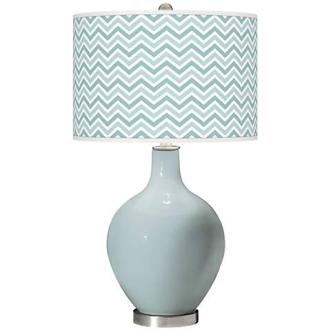 Rain Narrow Zig Zag Ovo Glass Table Lamp