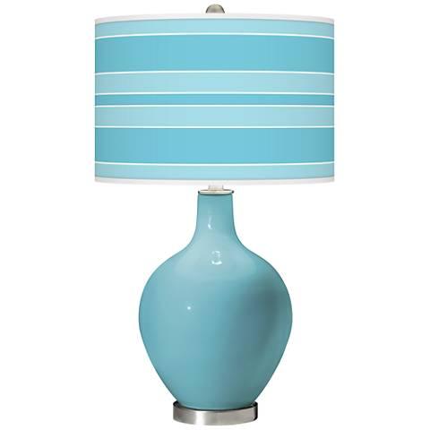 Nautilus Bold Stripe Ovo Glass Table Lamp