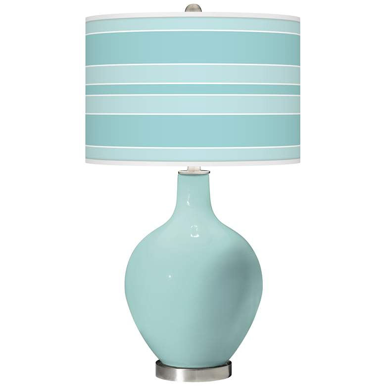 Cay Bold Stripe Ovo Glass Table Lamp