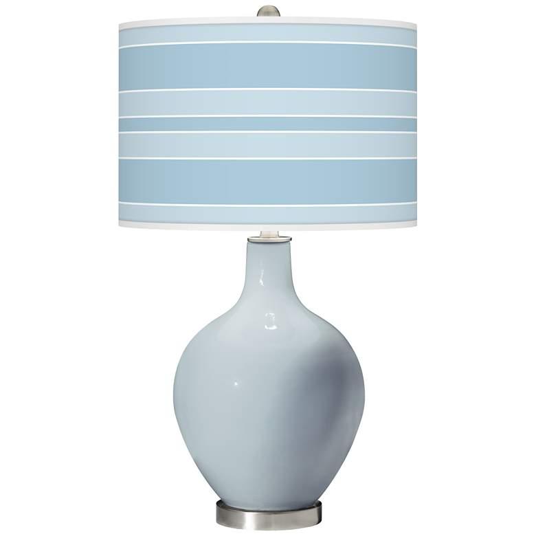 Take Five Bold Stripe Ovo Glass Table Lamp