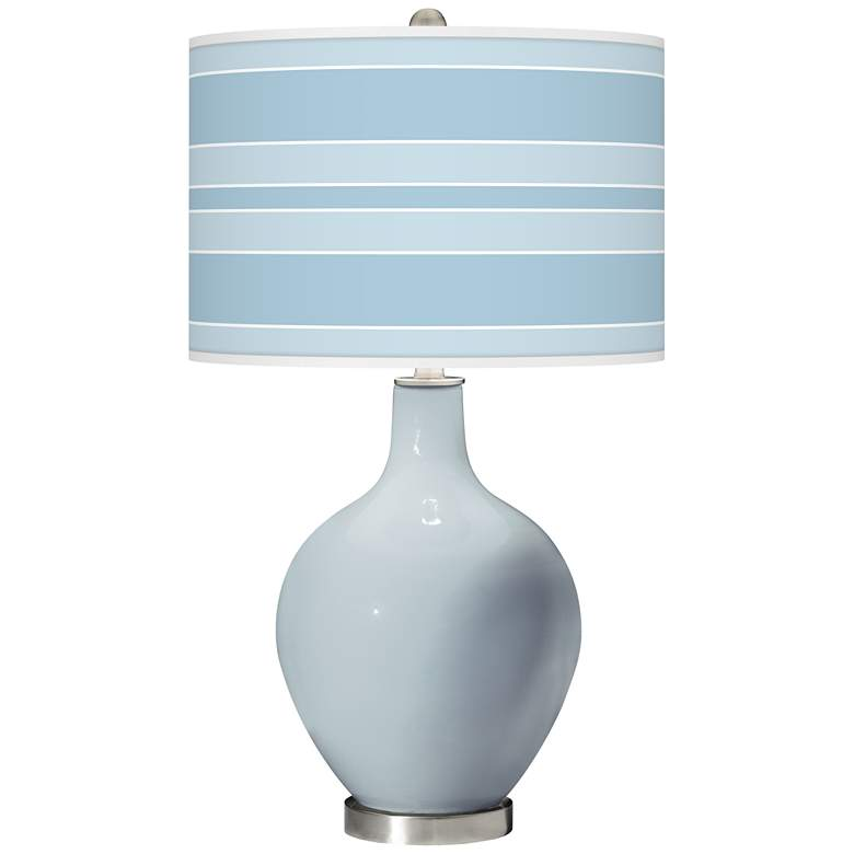 Take Five Bold Stripe Ovo Glass Table Lamp