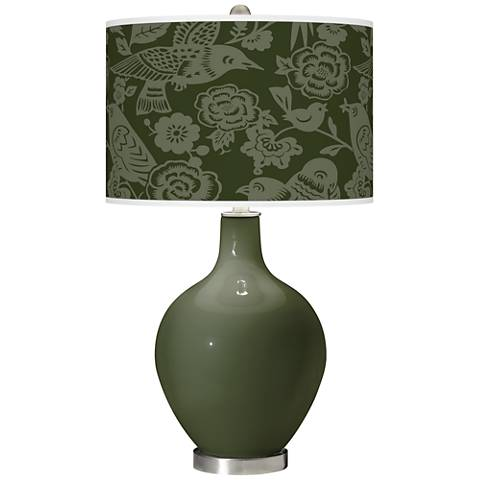 Secret Garden Aviary Ovo Glass Table Lamp