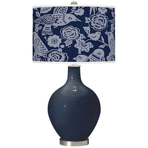 Naval Aviary Ovo Glass Table Lamp