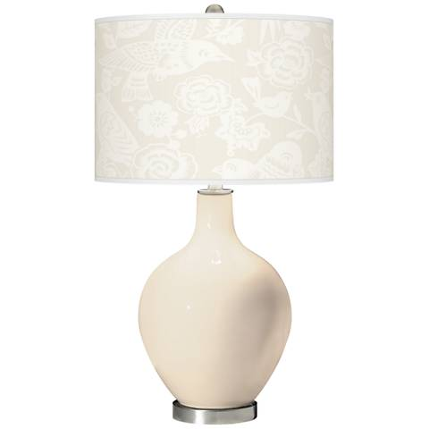 Steamed Milk Aviary Ovo Glass Table Lamp