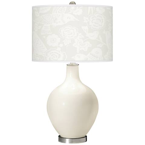 West Highland White Aviary Ovo Glass Table Lamp