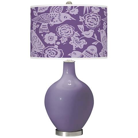 Purple Haze Aviary Ovo Glass Table Lamp
