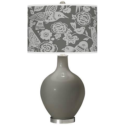 Gauntlet Gray Aviary Ovo Glass Table Lamp