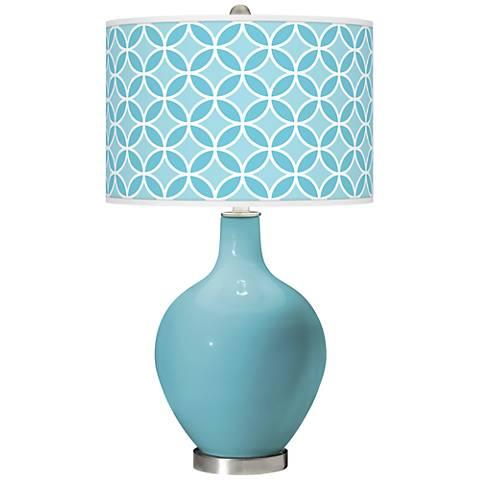 Nautilus Circle Rings Ovo Glass Table Lamp