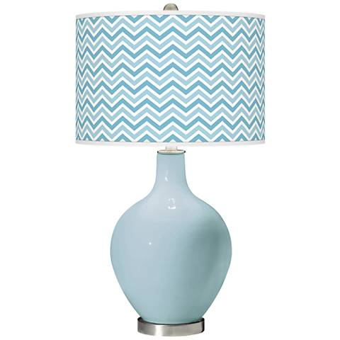 Vast Sky Narrow Zig Zag Ovo Glass Table Lamp