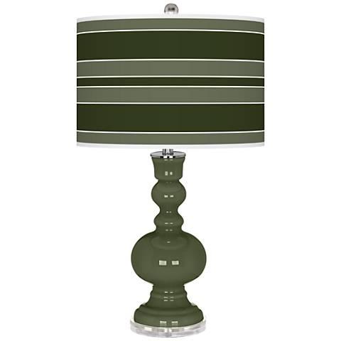Secret Garden Bold Stripe Apothecary Table Lamp