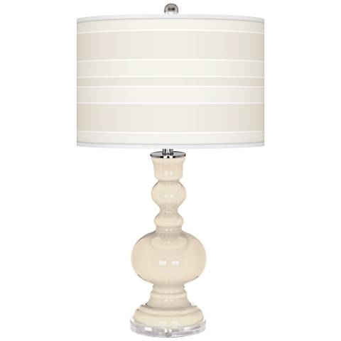 Steamed Milk Bold Stripe Apothecary Table Lamp
