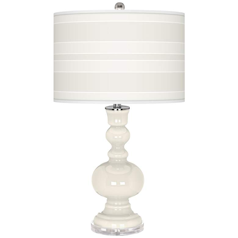 West Highland White Bold Stripe Apothecary Table Lamp