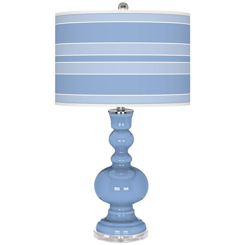 Placid Blue Bold Stripe Apothecary Table Lamp